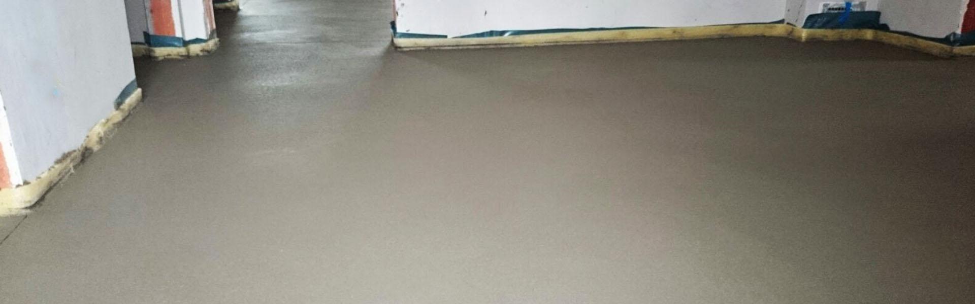 Robuster Zementestrich für strapazierfähige Böden