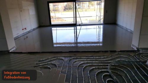 Integration von Fußbodenheizung