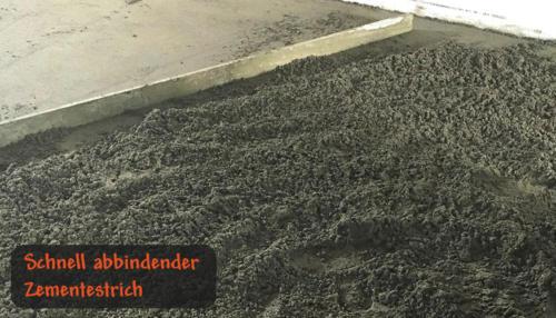 Schnell abbindender Zementestrich