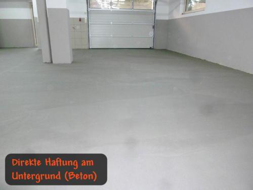 Direkte Haftung am Untergrund (z.B. Beton)